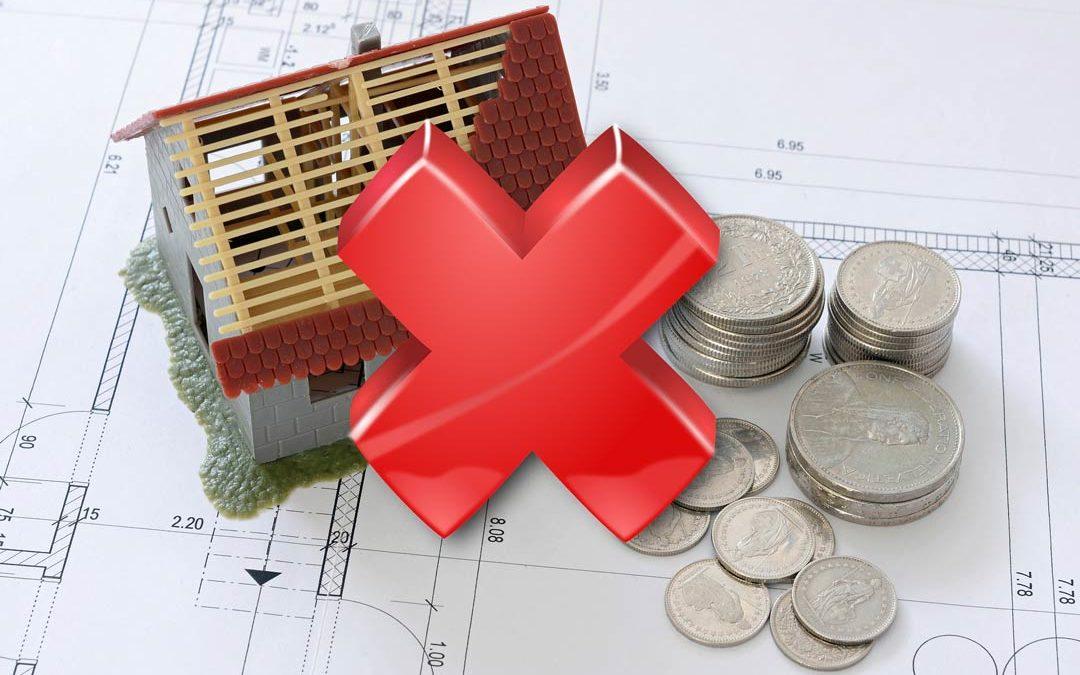 Die 10 häufigsten Fehler bei einer Baufinanzierung